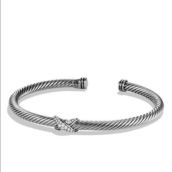 off David Yurman Jewelry NIB David Yurman Diamond X Cable