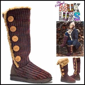 Muk Luks Shoes - ❗1-HOUR SALE❗MUK LUKS Tall Boots Shearling Lined
