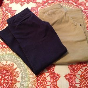 Aeropostale classic fit khakis and navy pants
