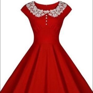 Dresses & Skirts - Red vintage midi dress