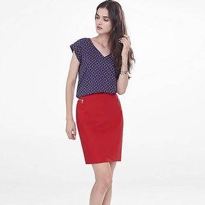 Express Dresses & Skirts - Express Red Skirt With Side Zipper Pockets