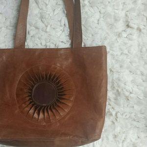 Spanish craftsmen  Handbags - Handcrafted brown leather bag