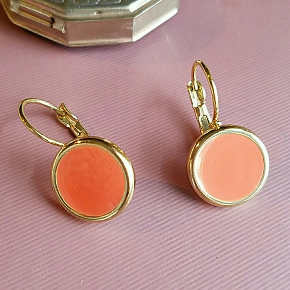 50 off forever 21 jewelry gold and coral drop earrings for Forever 21 jewelry earrings