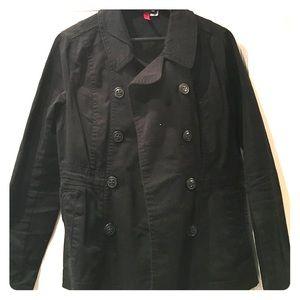 H&M Jackets & Blazers - H&M Black Lightweight Peacoat