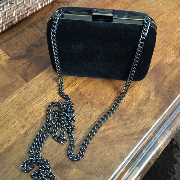 Giorgio Armani Handbags - Giorgio Armani Black Velvet Shoulderbag Clutch 3d766c470e