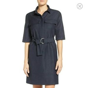 Halogen NORDSTROM belted denim shirtdress