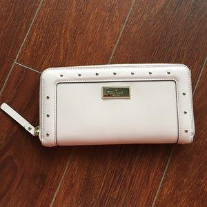 NWT: Kate Spade Neda blush zip around wallet