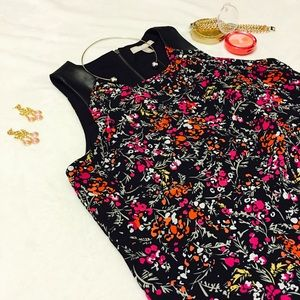 Banana Republic Leather and Spring Floral Top