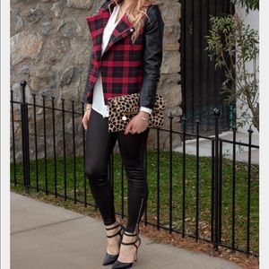 Tartan Red Plaid Moto Jacket