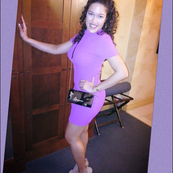 River Island Dresses - 🙅🏻 Purple Turtleneck Bodycon Dress 🙅🏻