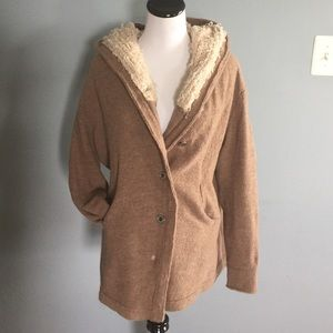 Free people oversized hood sweater jacket