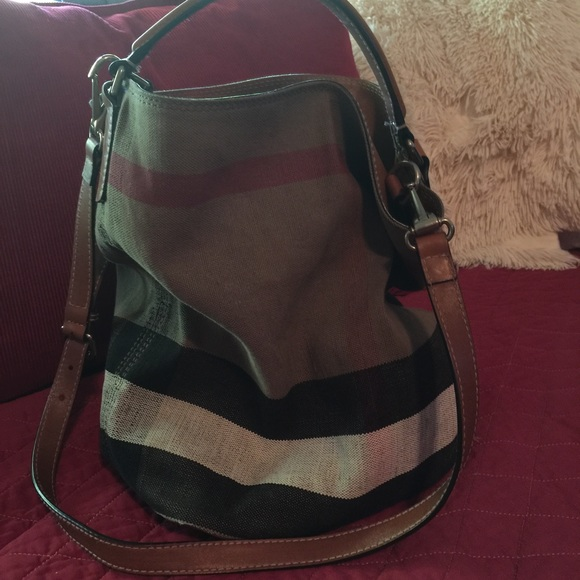 d32280f542 Burberry Bags | Brit Susanna Med Check Print Bucket Bag | Poshmark