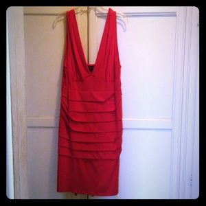Short red layered Torrid dress
