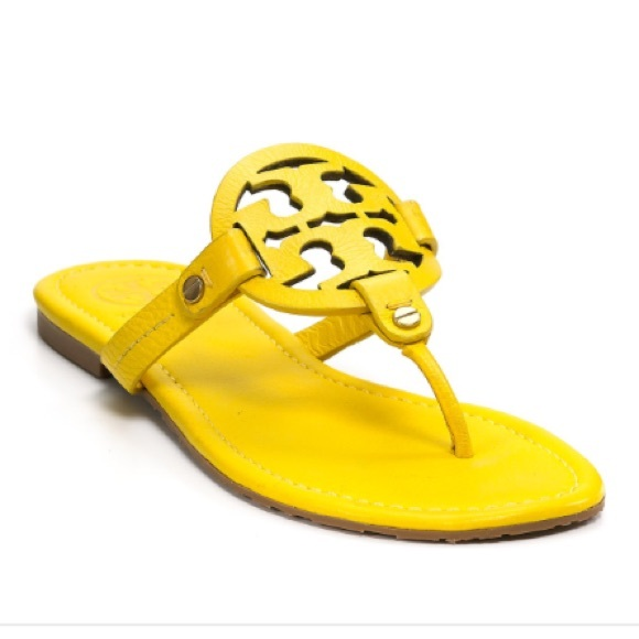 6d289d69f Tory Burch Miller Sandals Yellow. M 572a38e52fd0b7e0c10067e6