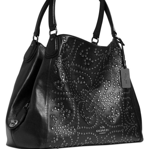 a1172f98f779 Coach Mini Studs Edie Shoulder Bag in Leather