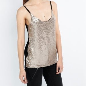 Maje Tops - Maje gold sequin top nwt Sz large