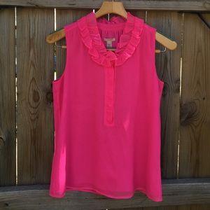 J. Crew Neon pink blouse