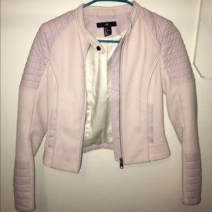 Baby pink H&M Biker Jacket