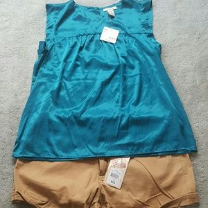 Covington Tops - NWT Teal silky blouse
