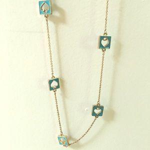 Kate spade long spade necklace