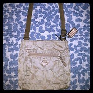 Coach Signature Nylon Crossbody purse