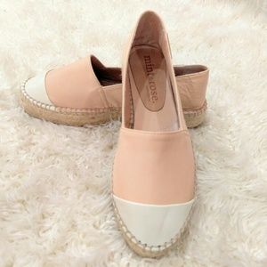 af0b77ad2c3 Mint   Rose · Leather Espadrilles Nude ivory