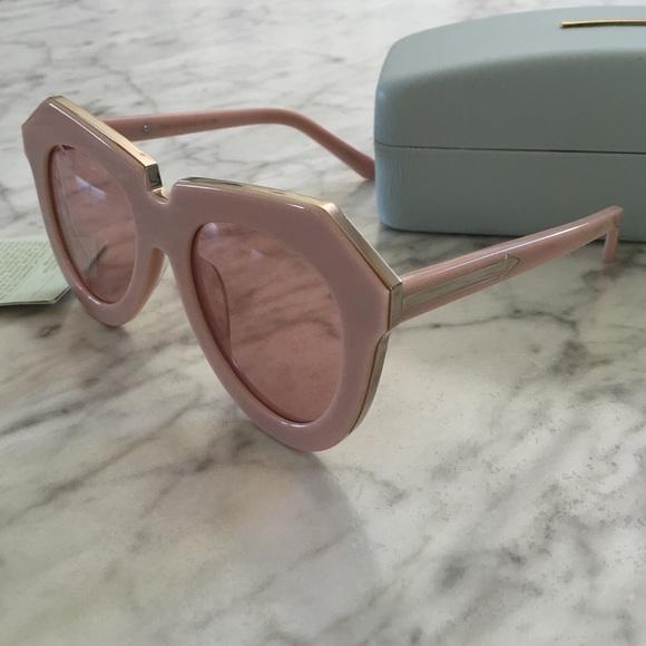 f383a0a67d0 KAREN WALKER Dusty Pink   Gold sunglasses