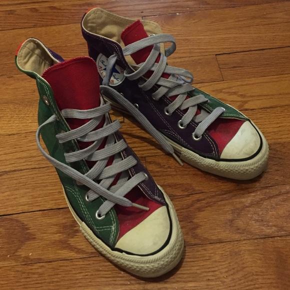 118ac391b174 Converse Shoes - Vintage green red purple tricolor converse