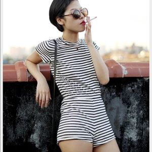 8ea11df45aa43 American Apparel Pants - Striped AA tee shirt romper