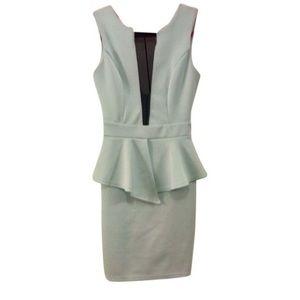 Mint peplum Arden B dress