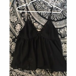 Tops - Black Baby Doll Top