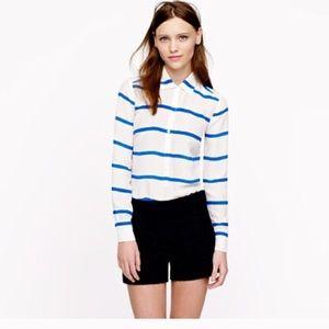 J. Crew Tops - J crew silk striped popover shirt