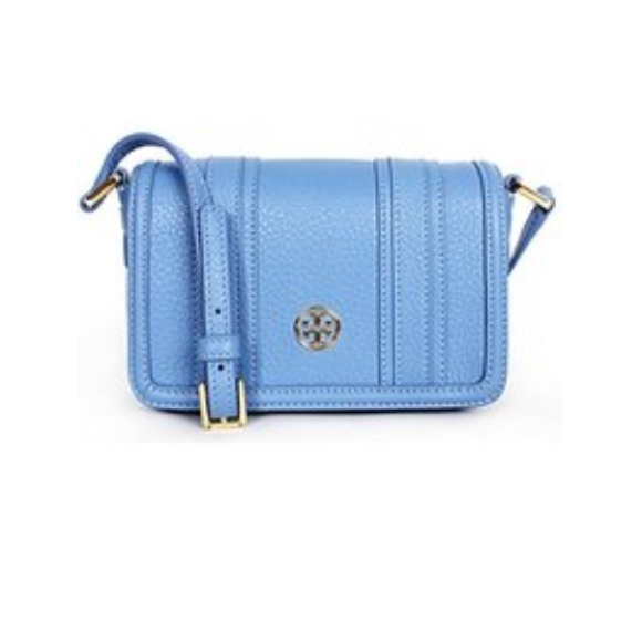 62650f0dca03 Tory Burch mini Landon crossbody in blue dusk NWT
