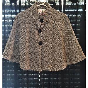 Jackets & Blazers - Black and White Vintage Poncho