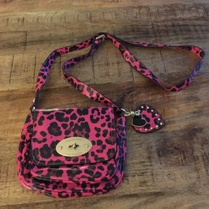 Mulberry for target. Pink leopard crossbody.