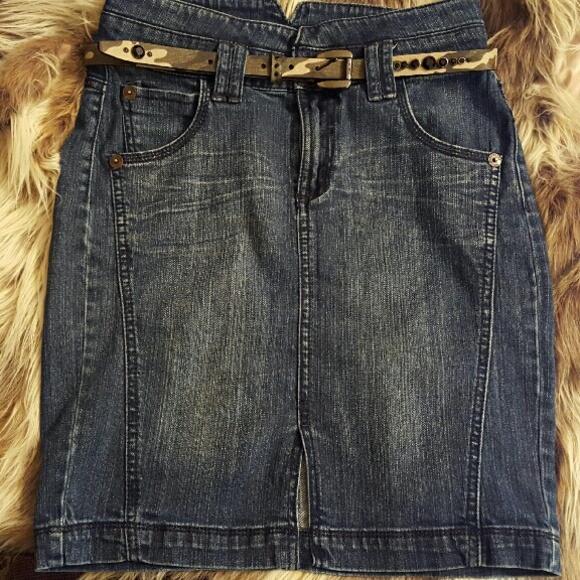 dkny denim skirt from nicky s closet on poshmark