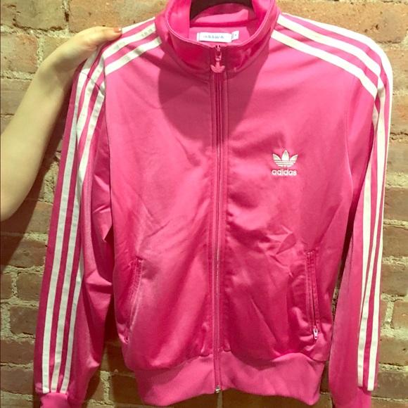 adidas jacket pink