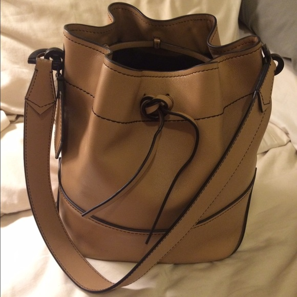770545c15525a ZAC Zac Posen Leather Eartha Envelope Bucket Bag. M 572aa68d4225be926000511c