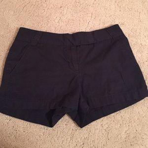 Navy J. Crew chino shorts