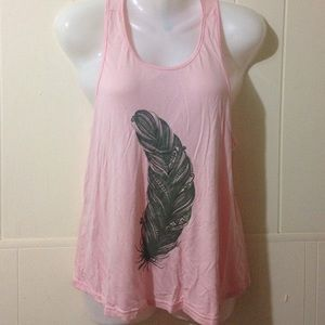 Tops - NWOT Pink W/ Gray Leaf Top