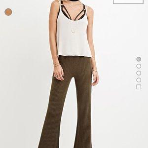 Flare Ribbed Pants