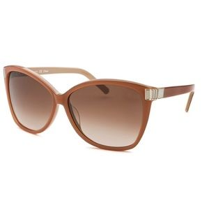 Chloe Women's Square Two-tone Brown Sunglasses