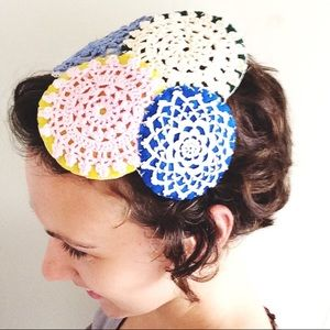 Handmade Up-Cycled Doily Headband