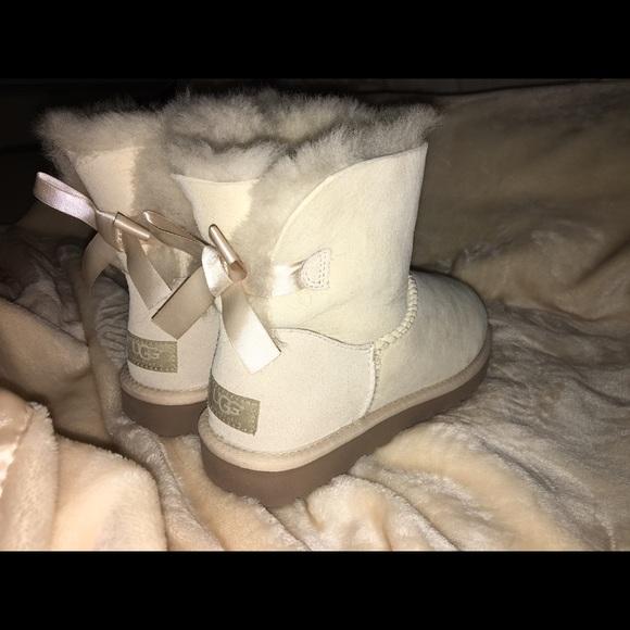 de01ed311cc White Ugg Bailey Bow Boots
