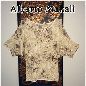 Alberto Makali Tops - Alberto Makali - Abstract Flow Tunic w/ studs
