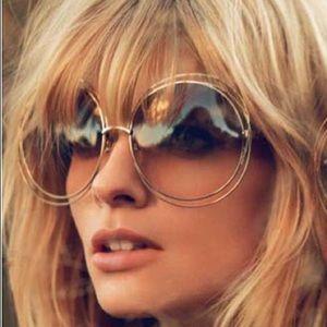 Accessories - Mirror Oversized Diva Sunglasses - The Farrah
