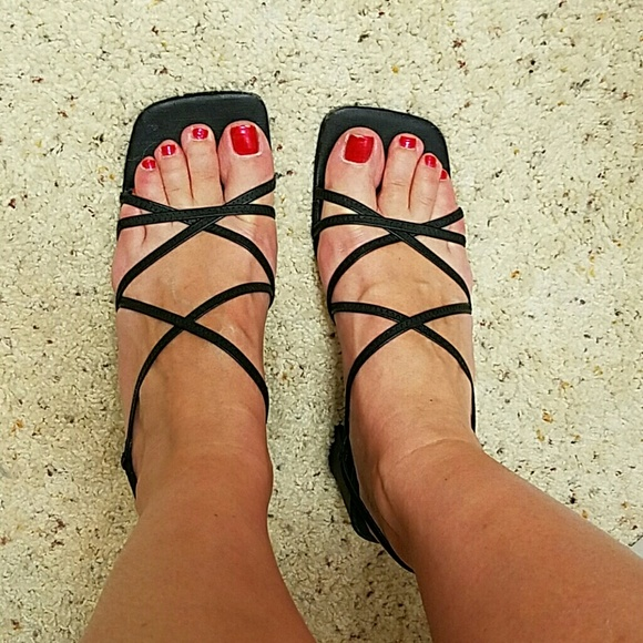 e924d40fe79 Square Toe Strappy Sandals. M 572abf9d620ff7a69d00aae9