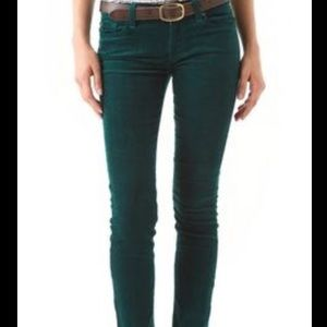 American Eagle Outfitters Denim - Army hunter green suede velvety high waisted jeans