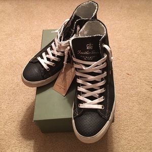 Leather Crown Shoes - Leather Crown High Top Sneakers