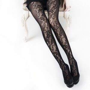 Black leggings lace design